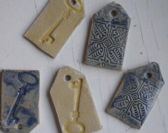 Ceramic tag or knife rest