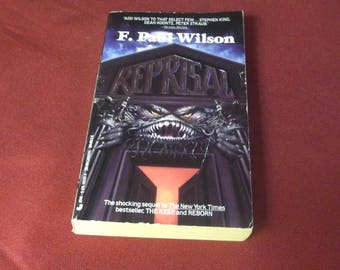 REPRISAL  F. Paul Wilson  Horror Paperback Book Gothic 1990 Jove Books edition, Author of the Nazi Horror Book THE KEEP