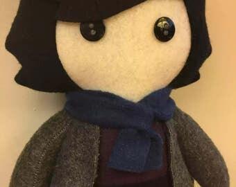 Sherlock Holmes BBC Fleece Plush Doll