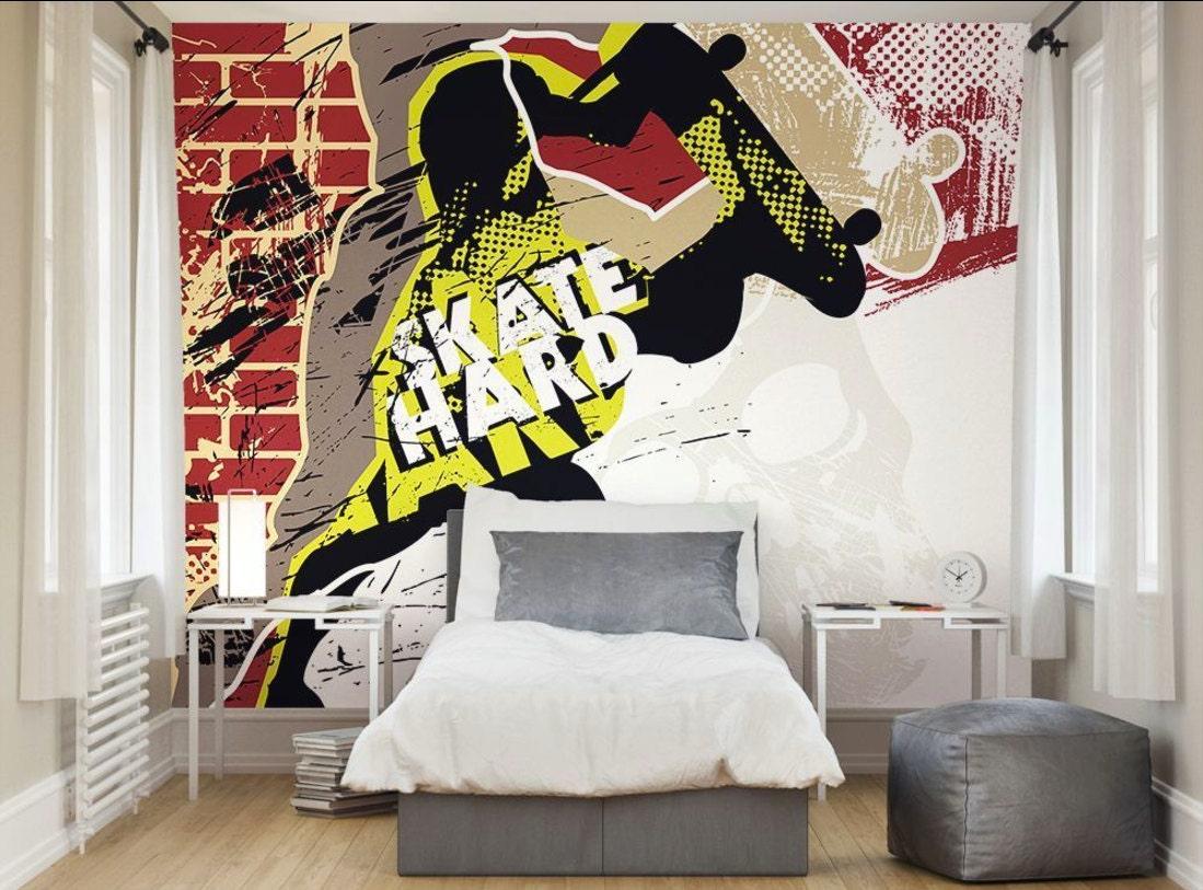 Skater Bedroom Skateboarding Photo Etsy