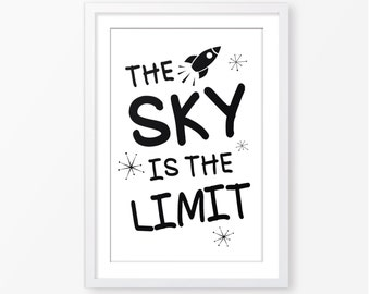 the sky is the limit etsy. Black Bedroom Furniture Sets. Home Design Ideas