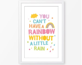 Kids poster,baby wall art,typography poster,quote poster,kids room decor,rainbow poster,nursery printable,children wall art,kids room decor