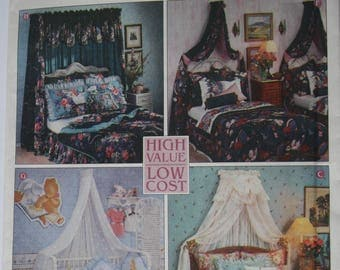Bed Canopy Patterns, Sewing Patterns, UNCUT Simplicity 9401, crib canopy, single bed, princess bed, classic, pavilion, master canopy