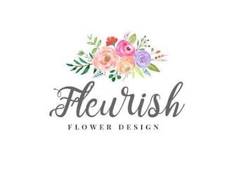 Premade Logo Design / Small Business Logo / Floral Logo / Flower Logo