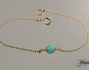 Goldfilled Türkiser Amazonite bracelet
