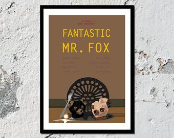 Fantastic Mr. Fox high quality film print (A5, A4, A3)