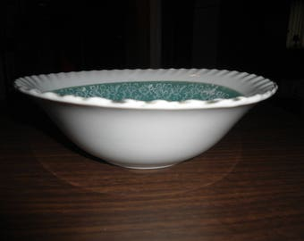 Vintage, Ucagco, Scalloped, Iridescent, Serving Bowl, Gift for Her, Serving Dish, French, Victorian, Home Decor, Kitchen Decor, Holiday Dish