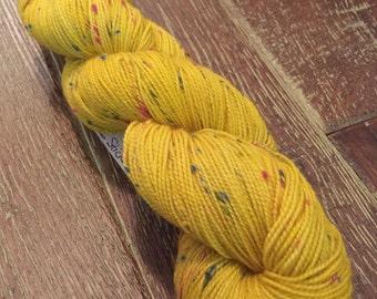 Hand Dyed Superwash Merino Coloured Donegal Nep Sock Yarn, 100g/3.5oz, 'Disco Stick'