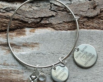 Football Bracelet Personalized Adjustable Wire Bangle Bracelet