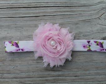 Cherry blossom baby headband