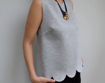 Grey Round Edge Top