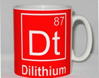 Dilithium Element Mug Can Be Personalised Funny Star Trek Science Periodic Table Scotty Parody Gift
