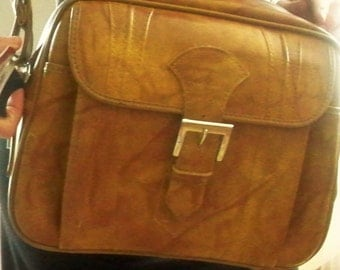 American Tourister shoulder bag with luggage tag, faux leather American Tourister bag