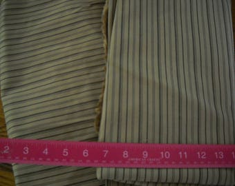 Destash- Tan and Black Stripe Vintage Mid Weight Fabric