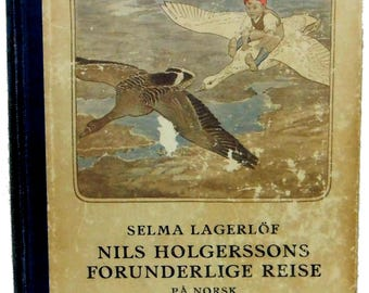 Nils Holgerssons Forunderlige Reise German 1927 Children's Story Book