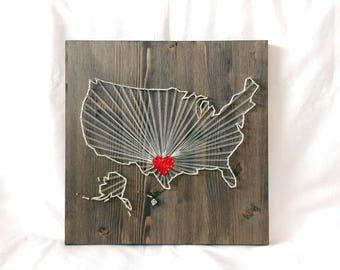United States Map String Art Wall Art Decor Rays