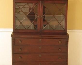 F28569E: Vintage 1930's Federal Mahogany Secretary Desk