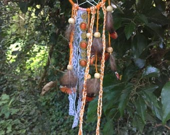 Orange & White Dreamcatcher