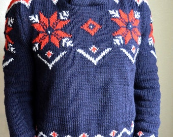 Hand knitted men's sweater