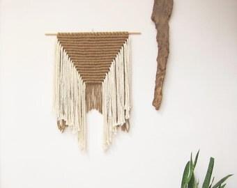 "Modern macrame wall hanging "" Desierto """