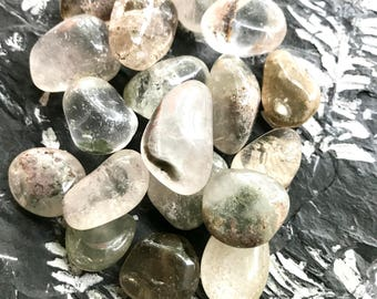 Tumbled Inclusion Quartz-Lodolite from Brazil