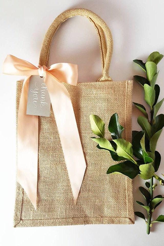 100 Large Rustic Elegant Burlap Wedding Hotel Welcome Bags
