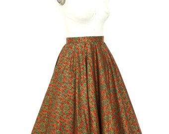Circle Skirt Christmas Skirt Christmas Tree Skirt Midi Skirt Vintage Skirt Swing Skirt Pin Up Dress Vintage Inspired Prom Plus Size Skirt