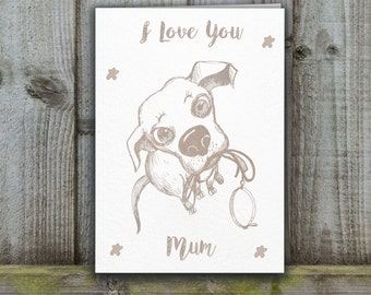 Fur Baby Card, I love you mum card, mothers day card