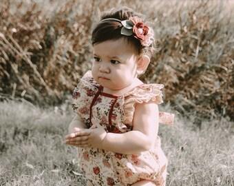 Maroon petite flower crown - felt flower crown/ felt flower headband/ girls accessories/ whimsical/ vintage/ boho/ floral crown