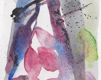 ORIGINAL ART 'Tree Forms #4' Mixed Media