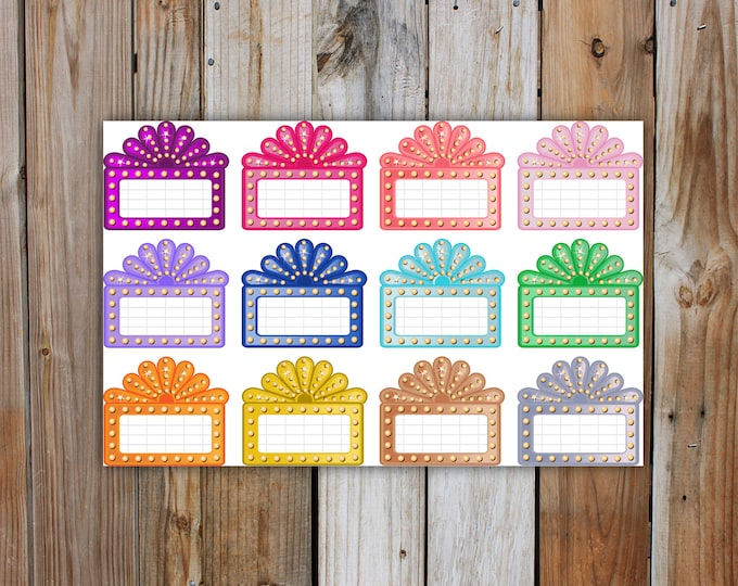 Movie Marquee Planner Stickers, Movie Planner Stickers | for use with ERIN CONDREN Life Planner