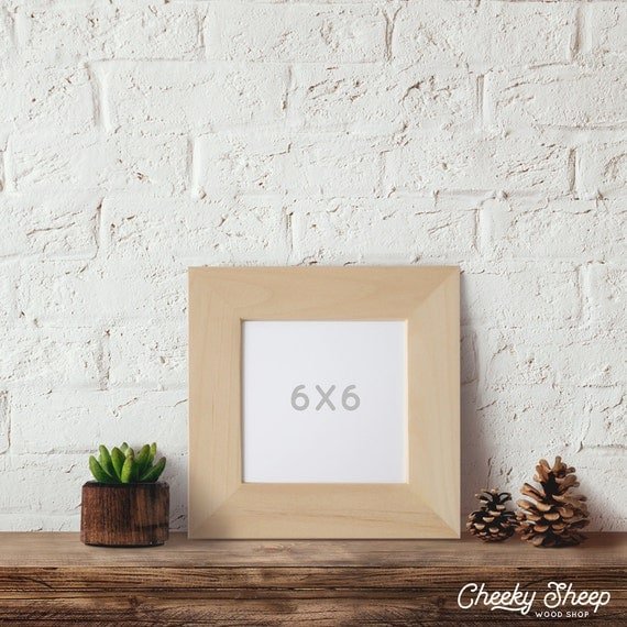 6x6x2 wide face picture frame 6x6 picture frame for Unfinished wood frames for crafts