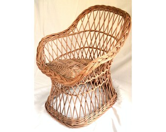 Wicker Kids Chair, Willow Child Chair, Kids Willow Chair, Handmade Kids Chair, Small Wicker Chair, Wicker Kids Furniture, Bohemian Decor