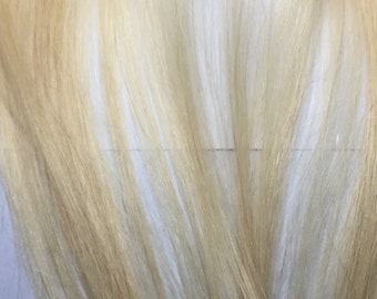 Extra Clip in Hair Extensions Streak Bleach Blonde 1 Piece Strip for You 13 grams 14 inches long 3Clips