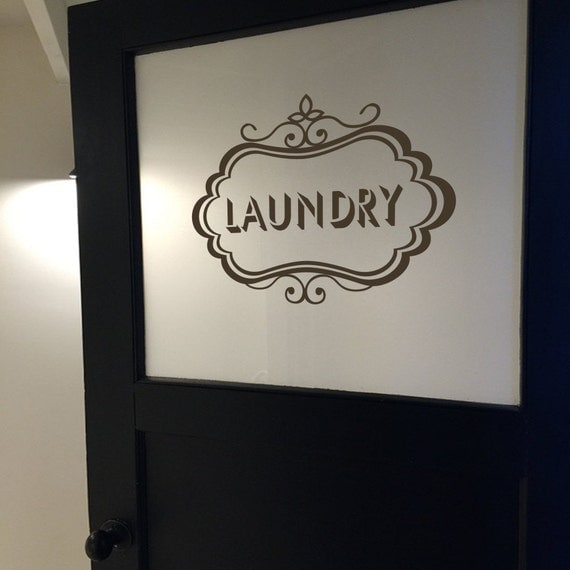 Laundry Vinyl Decal Laundry Room Decal Laundry Door Decal - Vinyl stickers for glass doors