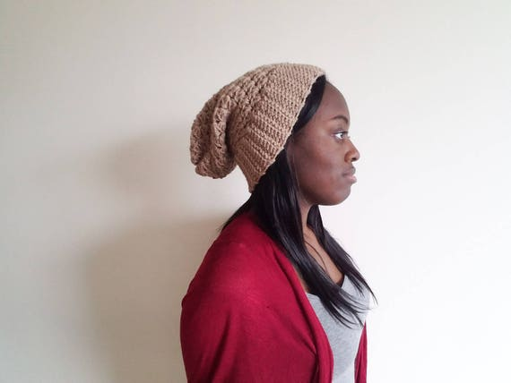 Taupe Ribbed Brim Hat, Crochet Beanie for Women, Gift for Girlfriend, Winter Unisex Hat, Gift for Boyfriend, Fathers Day Gift Ideas