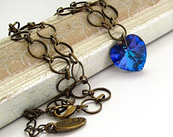 Wife Heart Necklace, Girlfriend Romantic Necklace, Girlfriend Heart Necklace, Wife Romantic Gift Heart Necklace, Dainty Heart Gift Necklace