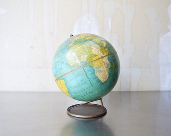 Antique Crams Universal Terrestrial 7 Inch Globe No. 73 - Antique World Globes - Desk Table Globe - Office Decor - Rare Collectible Globe