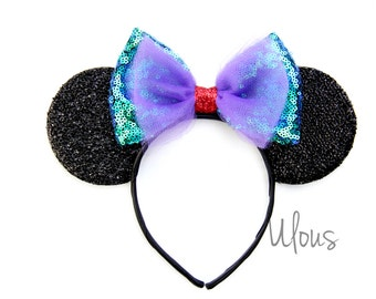 Ariel Mickey Ears, Ariel Ears, Littler Mermaid Ears, Little Mermaid Mickey Ears, Ariel, Little Mermaid, Disney Ears, Mickey Ears, Mouse Ears