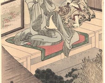 Japanese Ukiyo-e Woodblock print, Katsushika Hokusai.