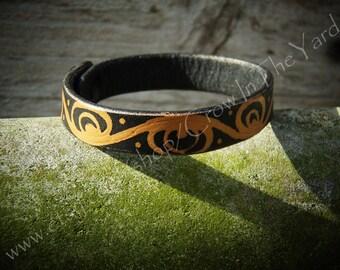 """Leather Bracelet/Anklet 6.5"""""""