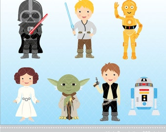 Digital Clipart - Star Wars Clipart, Instant Download, only FOR PERSONAL USE