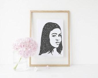 Instant Print Art, Michelle Obama Art, FLOTUS, Black Girl Magic, Black Women Art, Printable Art, Digital Downloads, Well Versed Designs