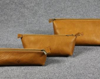 Leather Toiletry Bag, Travel Shaving Kit, with Monogram, Gift for Man