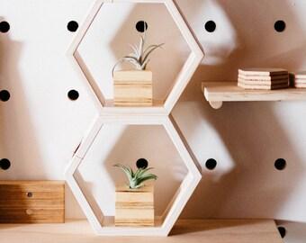 Hexagon Shelves - set of 3