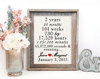 2nd Year Anniversary Gift, Cotton Anniversary Gift