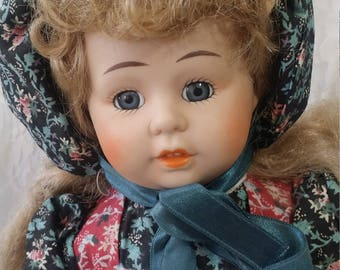 Carla ~ Haunted Porcelain Doll 17 Inch ~ Paranormal ~ Servant in the Palace of the Queen ~ Smallpox ~ Bright and Sweet Girl