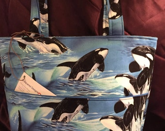 Orca Ocean Handbag Tote Bag Purse