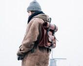 Roll Top Backpack Leather Camera Rucksack Messenger Briefcase Laptop Bag Metropolitan Fashion Mens Leather Bag Full Grain Leather