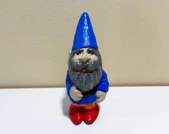Garden gnome  -Concrete gnome - Miniature gnome -  Fairy garden miniatures - Fairy garden accessories  - Garden decor - Gnome statue
